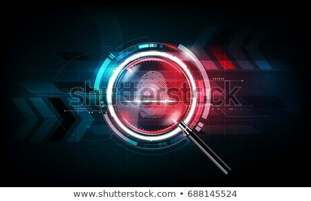 Investigation of Thumb Prints by Magnification Stock photo © robuart