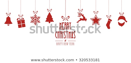 Christmas Elements of Holiday with Santa Vector Stock photo © robuart