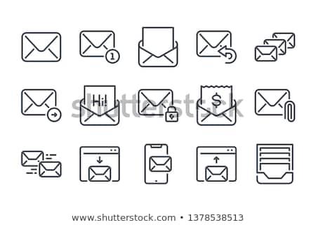 posta · csatolmány · ikon · internet · kapcsolat · háló - stock fotó © angelp