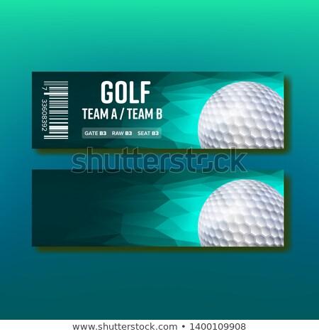 Colorido billete golf torneo plantilla vector Foto stock © pikepicture