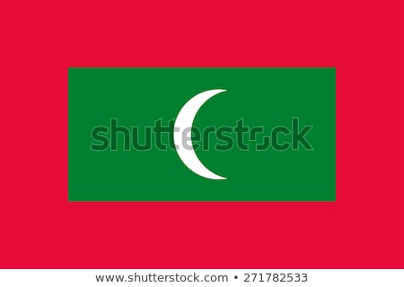 Мальдивы флаг белый большой набор луна Сток-фото © butenkow
