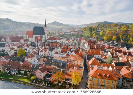center of cesky krumlov czech republic stock photo © jamdesign