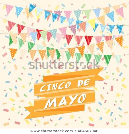 Emblem Cinco De Mayo Balloons Chili Buntings Stock photo © limbi007