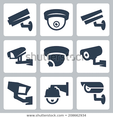 Vector set of security camera Stock photo © netkov1