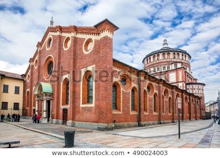 Igreja milan vista lateral Itália edifício Foto stock © vapi