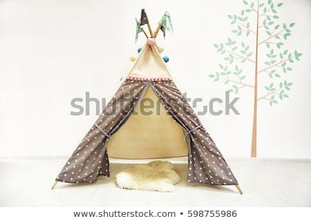 Cabaña habitación interior familia naturaleza nino Foto stock © Lopolo
