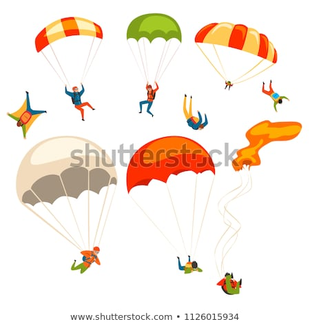 Dangerous Activity, Jumping with Parachute Vector Stock photo © robuart