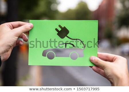voiture · électrique · vert · environnement · monde · monde · technologie - photo stock © andreypopov
