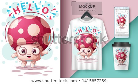 Cute champignon idee vector eps Stockfoto © rwgusev