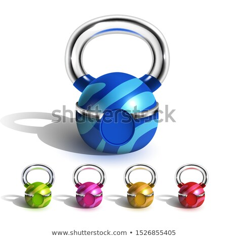 Kettlebell In Funny Multicolored Design Set Vector Stock photo © pikepicture