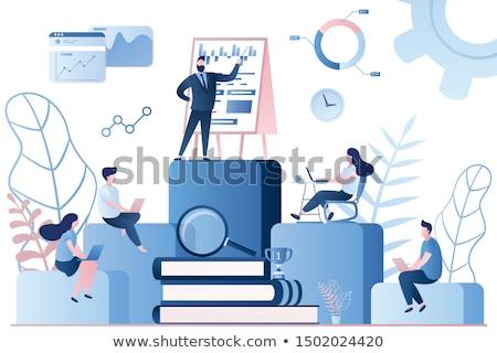 fejlesztés · webinar · elektronikus · könyvtár · háló · oldalak - stock fotó © robuart