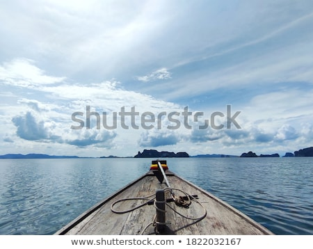 utasszállító · hajó · Thaiföld · fából · készült · part · víz · tenger - stock fotó © vapi