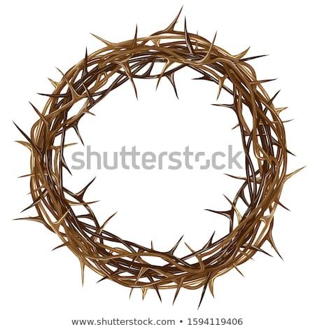tepe · üç · simge · İsa · Paskalya · gündoğumu - stok fotoğraf © pikepicture