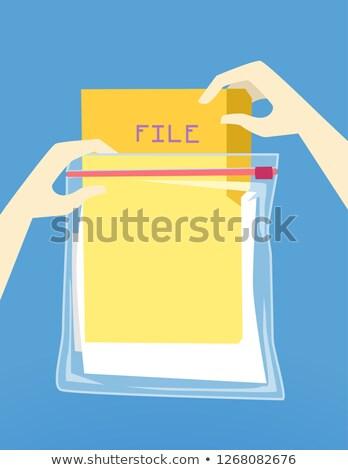 手 ハリケーン ファイル 保護 実例 手 ストックフォト © lenm