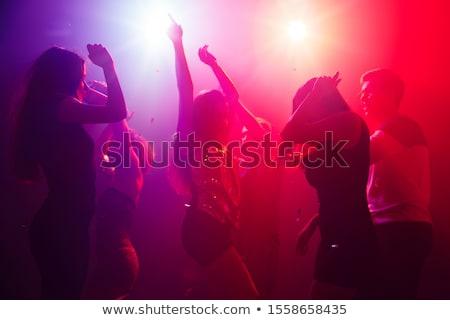 Diszkó zene buli színes kéz nők Stock fotó © lirch