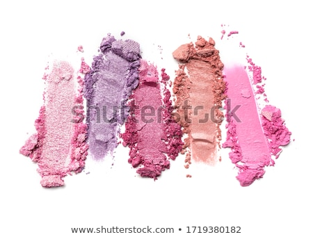 Crushed eyeshadows and powder isolated on white background Stock photo © Anneleven