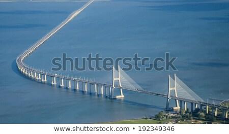Légifelvétel híd Lisszabon Portugália víz város Stock fotó © diego_cervo