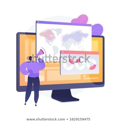 Globális online felmérés elemzés vektor metafora Stock fotó © RAStudio