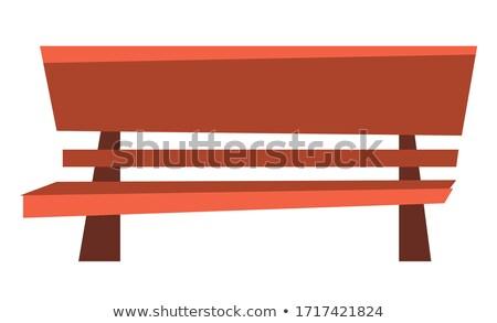 Liściastego siedziba brązowy ławce Kafejka obiektu Zdjęcia stock © robuart