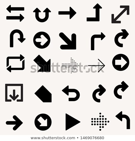 directional arrows set in blue color style Stock photo © SArts