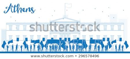 Grec parlement Ouvrir la Emploi liberté euros Photo stock © ShustrikS