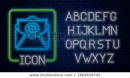 Adres neon działalności promocji biuro Zdjęcia stock © Anna_leni