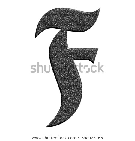 Classic old fashioned font Letter F 3D Stock photo © djmilic