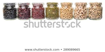 Soy bean in glass jar Stock photo © furmanphoto
