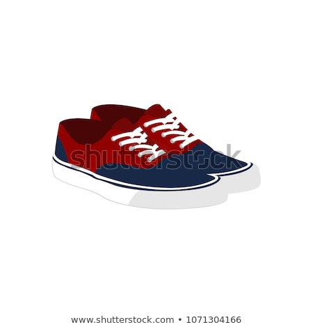 Pair of red sneakers Stock photo © karandaev