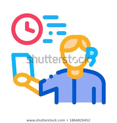 Führend Symbol Vektor Gliederung Illustration Zeichen Stock foto © pikepicture