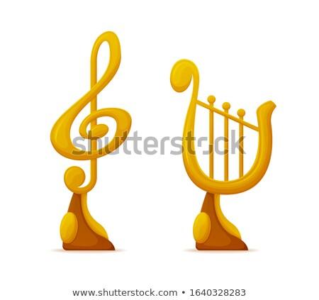 Muzyki nagrody Uwaga harfa trofeum Zdjęcia stock © robuart