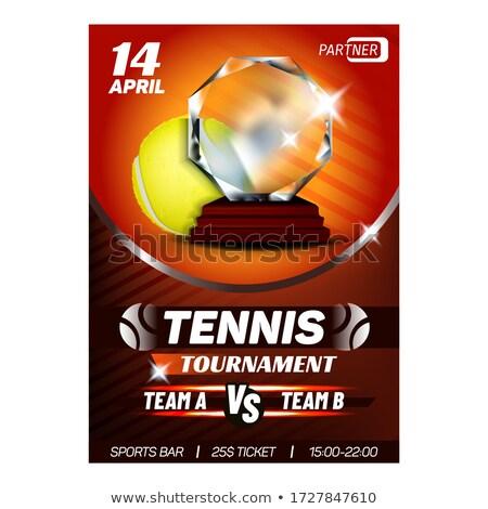 теннис спорт лига победителем вознаграждать плакат Сток-фото © pikepicture