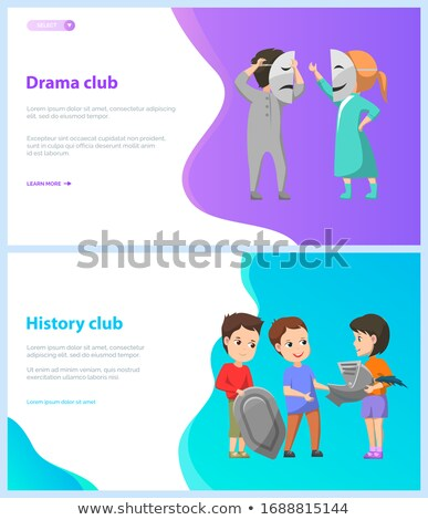 Drama história clube crianças escolas teia Foto stock © robuart