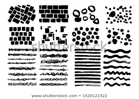 Hand drawn pattern with wave, curl and dot.  Stock photo © ShustrikS