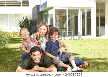Meadow with Family House Stock photo © tepic