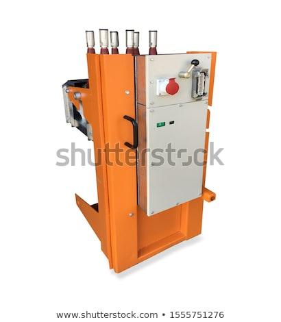 вакуум переключатель оборудование оранжевый кадр изолированный Сток-фото © vapi