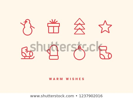 Christmas wenskaart laarzen kerstboom decoratie Stockfoto © Melnyk