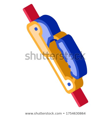 Alpinism Rope Movement Mechanism Tool isometric icon Stock photo © pikepicture