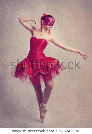 Imagem mulher jovem bailarina sessão cadeira Foto stock © deandrobot
