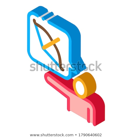 Human Talk About Archery isometric icon vector illustration Stock photo © pikepicture