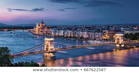 The parliament building at night in Budapest, Hungary stock photo © vladacanon