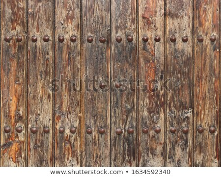 Aged and Worn Wooden Gate Stock photo © pixelsnap