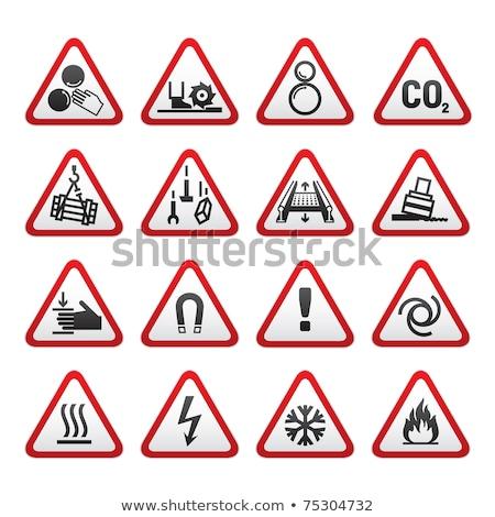 Ayarlamak uyarı tehlike işaretleri vektör bilgi Stok fotoğraf © Ecelop