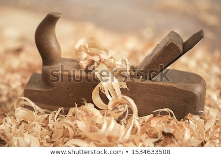 planer on wood in brown background Stock photo © gewoldi