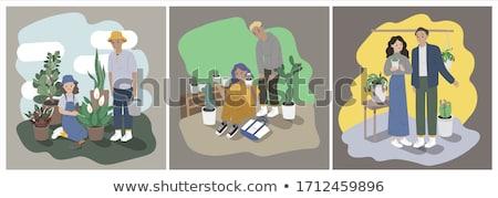 肉食の ジューシーな サボテン 工場 クローズアップ 閉じ込められた ストックフォト © franky242