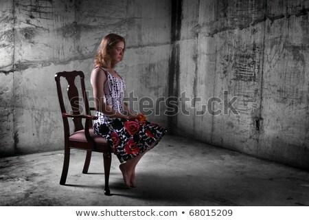 若い女性 具体的な トラップ 見える カメラ 夏 ストックフォト © pekour