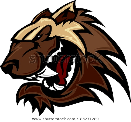 Wolverine Badger Mascot Head Vector Illustration stock photo © chromaco