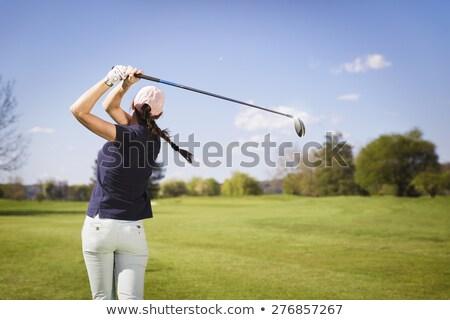 Női golfozó egészség táska vasaló friss Stock fotó © photography33