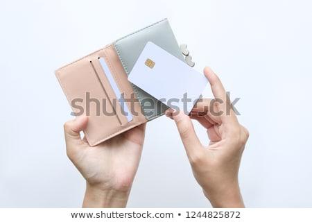 creditcard · uit · portemonnee · geïsoleerd · witte - stockfoto © antonprado
