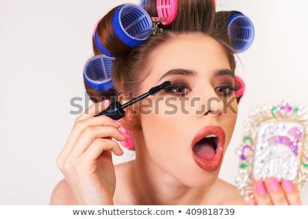 bela · mulher · festa · mulher · menina · cara · modelo - foto stock © hasloo